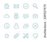 blue flat line icons set.... | Shutterstock .eps vector #339527975