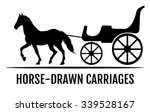 horse drawn carriage. black... | Shutterstock .eps vector #339528167