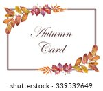 colorful watercolor floral... | Shutterstock . vector #339532649