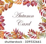 colorful watercolor floral... | Shutterstock . vector #339532661