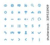 vector blue pictograms set....