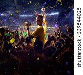 fans on stadium game  | Shutterstock . vector #339544025