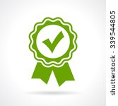 approved certificate icon... | Shutterstock .eps vector #339544805