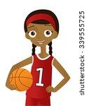 girl holding a basketball | Shutterstock .eps vector #339555725