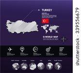 turkey map vector | Shutterstock .eps vector #339556679