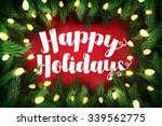 typographic christmas card ... | Shutterstock . vector #339562775