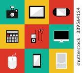 flat style gadget vector set | Shutterstock .eps vector #339564134