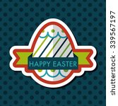 easter egg flat icon with long... | Shutterstock .eps vector #339567197
