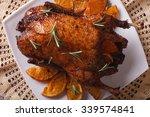 Roast Duck With Oranges Close...