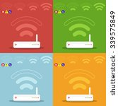 wireless router and signal.... | Shutterstock .eps vector #339575849