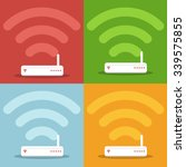 network router with wireless... | Shutterstock .eps vector #339575855