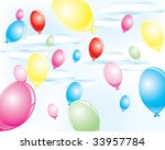 colorful party balloons | Shutterstock . vector #33957784