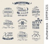christmas labels elements... | Shutterstock .eps vector #339591221