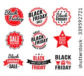 black friday lighting label set | Shutterstock .eps vector #339592721