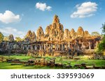 main view of ancient bayon... | Shutterstock . vector #339593069