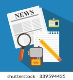 news media and broadcasting... | Shutterstock .eps vector #339594425