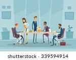 business people meeting... | Shutterstock .eps vector #339594914