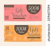gift voucher template   eps10... | Shutterstock .eps vector #339607094