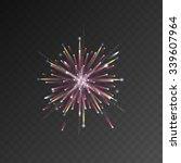 festive patterned firework... | Shutterstock .eps vector #339607964