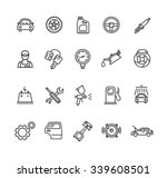 car service outline icons set.... | Shutterstock . vector #339608501
