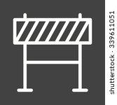 barricade  warning  barrier... | Shutterstock .eps vector #339611051