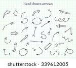 hand drawn arrows.doodle arrows ...   Shutterstock .eps vector #339612005