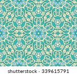 ornate seamless pattern ... | Shutterstock .eps vector #339615791