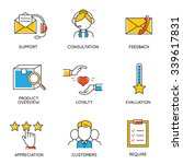 vector set of icons related to... | Shutterstock .eps vector #339617831