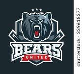 bear sport logo vector template....   Shutterstock .eps vector #339618377