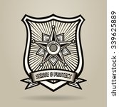police badge with wording serve ... | Shutterstock .eps vector #339625889