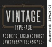 vintage typeface with scratched ... | Shutterstock .eps vector #339626405