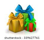 christmas box 3d render | Shutterstock . vector #339627761