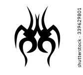 tattoo tribal vector designs.... | Shutterstock .eps vector #339629801