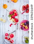 Colorful Image With Fruits In...