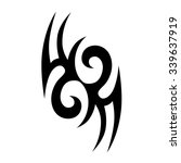 tattoo tribal vector designs.... | Shutterstock .eps vector #339637919