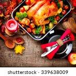 Thanksgiving Dinner. Roasted...