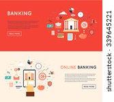 bank deposited the money ... | Shutterstock .eps vector #339645221