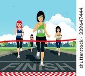 marathon runners are entering... | Shutterstock .eps vector #339647444