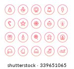 christmas icons | Shutterstock .eps vector #339651065
