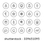 christmas icons | Shutterstock .eps vector #339651095