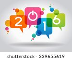 creative happy new year 2016... | Shutterstock .eps vector #339655619