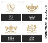 luxury crests collection gold... | Shutterstock .eps vector #339657041