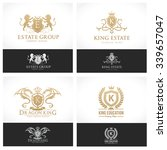 luxury logo template collection ... | Shutterstock .eps vector #339657047