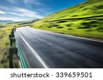 an highway in mountain | Shutterstock . vector #339659501