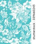 seamless flower background  ... | Shutterstock .eps vector #339660245