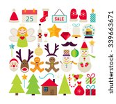 big collection of happy new... | Shutterstock .eps vector #339663671