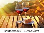 wine and cheese against geneva... | Shutterstock . vector #339669395