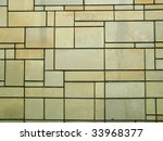 yellow bricks wall with clear... | Shutterstock . vector #33968377