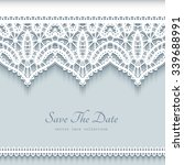 paper lace background ... | Shutterstock .eps vector #339688991