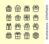 gift icons   present icons  ... | Shutterstock .eps vector #339690641